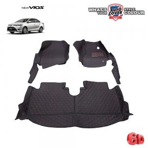 พรมเข้ารูป 6 D Leather Car Mat จำนวน 3 ชิ้น TOYOTA ALL NEW VIOS ปี 2014-2019