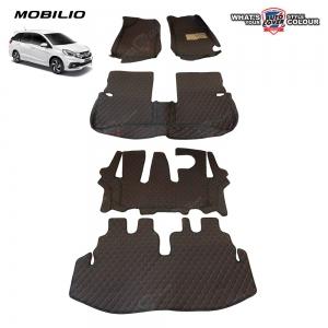 พรมรถยนต์เข้ารูป 6 D รถ HONDA MOBILIO จำนวน 5 ชิ้น รวมแผ่นท้าย