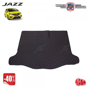 สินค้าโปรโมชั่น! พรมท้ายสัมภาระเข้ารูป 6 D รถ HONDA JAZZ (GK) ปี 2014-2018 จำนวน 1 ชิ้น สีดำด้ายแดง