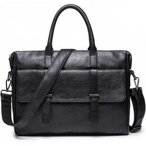 ***พร้อมส่ง*** กระเป๋าหนังแฟชั่น สำหรับสุภาพบุรุษ รหัส MBQ-4015 (M11-014) สีดำ สไตล์เกาหลี ราคาไม่แพง