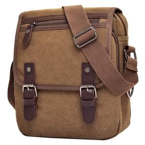 ***พร้อมส่ง*** กระเป๋าผ้าแคนวาส สำหรับสุภาพบุรุษ รหัส MH-7121 (M12-011) สีน้ำตาลเข้ม สไตล์เกาหลี ราคาไม่แพง