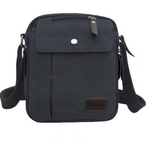 ***พร้อมส่ง*** กระเป๋าผ้าแคนวาส สำหรับสุภาพบุรุษ รหัส MH-6662 (M12-001) สีดำ สไตล์เกาหลี ราคาไม่แพง