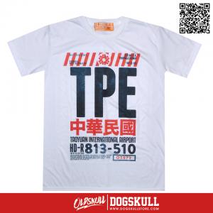 เสื้อยืด OLDSKULL: EXPRESS TICKET TO TPE | WHITE