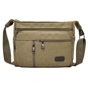 ***พร้อมส่ง*** กระเป๋าผ้าแคนวาส สำหรับสุภาพบุรุษ รหัส MH-7118 (M12-010) สีน้ำตาล สไตล์เกาหลี ราคาไม่แพง