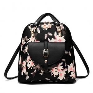 ***พร้อมส่ง*** กระเป๋าแฟชั่นสตรี รหัส TZ-8964 (T4-008) สีดำ แบบสะพายหลัง สไตล์เกาหลี สำหรับ สุภาพสตรีทันสมัย ราคาไม่แพง