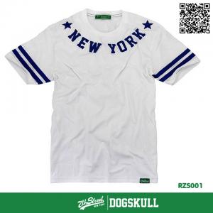 เสื้อยืด 7TH STREET - รุ่น NEW YORK STAR | WHITE-BLUE