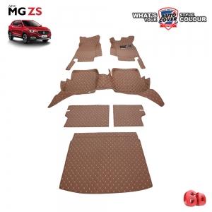 พรมรถยนต์เข้ารูป 6 D รถ MG ZS จำนวน 6 ชิ้น ชุดเต็มคัน รวมแผ่นท้ายและหลังพนักพิง