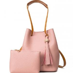 (พรีออเดอร์) กระเป๋าแฟชั่นสตรี รหัส MIS-3708 (M9-172) สีชมพู สไตล์เกาหลี สำหรับ สุภาพสตรีทันสมัย ราคาไม่แพง
