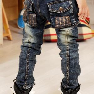 กางเกงยีนส์กันหนาวเด็ก C81-90