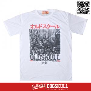 เสื้อยืด OLDSKULL: EXPRESS CITY TOWN | WHITE