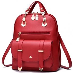 ***พร้อมส่ง*** กระเป๋าแฟชั่นสตรี รหัส NR-774 (N2-006) สีแดง แบบสะพายหลัง สไตล์เกาหลี สำหรับ สุภาพสตรีทันสมัย ราคาไม่แพง