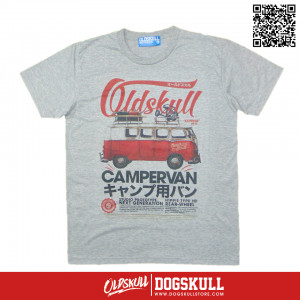 เสื้อยืด OLDSKULL : EXPRESS CAMPERVAN | GREY