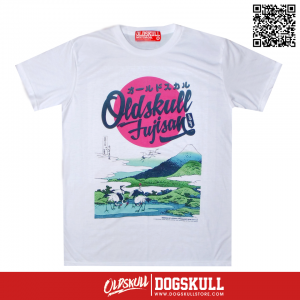 เสื้อยืด OLDSKULL : EXPRESS HD #49 WHITE