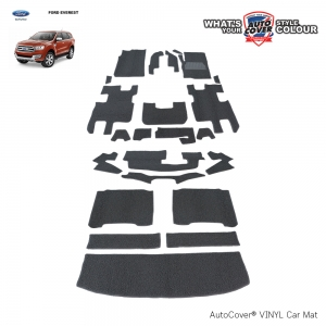 พรมดักฝุ่นไวนิล ORIGINAL รถ FORD EVEREST TITANIUM+ ปี 2015-2020 ชุด All Full ปูเต็มคัน จำนวน 23 ชิ้น
