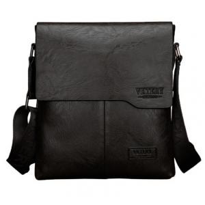 ***พร้อมส่ง*** กระเป๋าหนังแฟชั่น สำหรับสุภาพบุรุษ รหัส VK-9011L (V3-008) สีดำ สไตล์เกาหลี ราคาไม่แพง