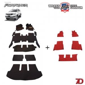 พรมรถยนต์ 7 D Anti Dust รถ TOYOTA FORTUNER 2005-2015 จำนวน 7+5 ชิ้น