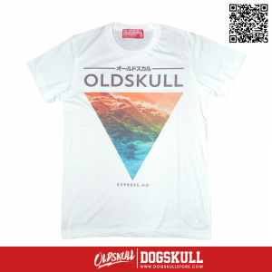 เสื้อยืด OLDSKULL : EXPRESS HD #36 | White
