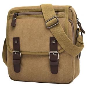 ***พร้อมส่ง*** กระเป๋าผ้าแคนวาส สำหรับสุภาพบุรุษ รหัส MH-7121 (M12-011) สีน้ำตาล สไตล์เกาหลี ราคาไม่แพง