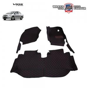 พรมรถยนต์ 6 D Leather Car Mat จำนวน 3 ชิ้น TOYOTA VIOS ปี 2008-2012