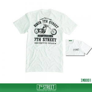 เสื้อยืด 7TH STREET - รุ่น I'm a Biker | White