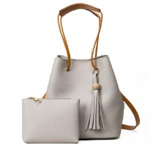 (พรีออเดอร์) กระเป๋าแฟชั่นสตรี รหัส MIS-3708 (M9-172) สีเทาอ่อน สไตล์เกาหลี สำหรับ สุภาพสตรีทันสมัย ราคาไม่แพง