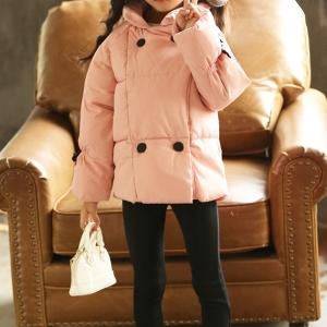 C119-44 เสื้อกันหนาวเด็ก สีชมพู บุนวมหนา ซับในทั้งตัว สวย นุ่ม อุ่นสบายๆ size 100-150