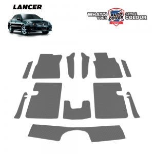 พรมกระดุม Super Save รถ Mitsubishi New Lancer ปี 2005-2015 ชุด Full จำนวน 12 ชิ้น