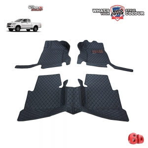 พรมเข้ารูป 6 D Leather Car Mat จำนวน 3 ชิ้น TOYOTA VIGO SMART CAB 2005-2015