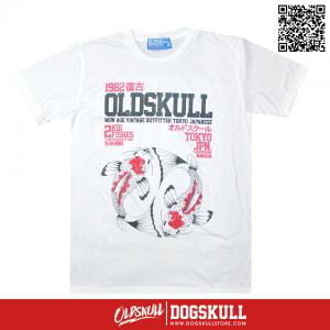 เสื้อยืด OLDSKULL : EXPRESS CARP | WHITE