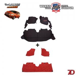 พรมรถยนต์ 7 D Anti Dust รถ TOYOTA YARIS 5 Door ปี 2014-2017 จำนวน 3+4 ชิ้น