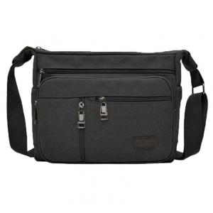***พร้อมส่ง*** กระเป๋าผ้าแคนวาส สำหรับสุภาพบุรุษ รหัส MH-7118 (M12-010) สีดำ สไตล์เกาหลี ราคาไม่แพง
