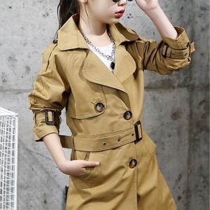 C125-64 เสื้อโค้ทกันลมเด็ก ผ้าทอเนื้อหนามีเข็มขัดแยก ซับในทั้งตัว สำหรับอากาศเย็นสบายๆ ใส่เป็นเสื้อคลุมทับสวยๆ