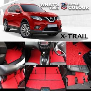 พรมดักฝุ่นไวนิล ชุด All Full จำนวน 14 ชิ้น Nissan All New X-Trail 7 ที่นั่ง 2015-2019