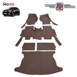 พรมรถยนต์เข้ารูป 6 D รถ MG GS จำนวน 6 ชิ้น ชุดเต็มคัน รวมแผ่นท้ายและหลังพนักพิง