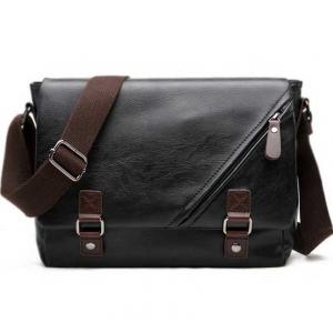 ***พร้อมส่ง*** กระเป๋าหนังแฟชั่น สำหรับสุภาพบุรุษ รหัส MBQ-9848 (M3-070) สีดำ สไตล์เกาหลี ราคาไม่แพง