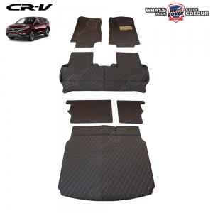 พรมรถยนต์เข้ารูป 6 D รถ HONDA CRV (GEN 4) ปี 2013-2017 จำนวน 6 ชิ้น รวมแผ่นท้าย และหลังพนักพิง