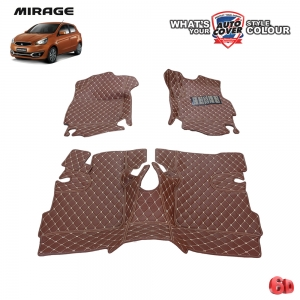 พรมรถยนต์ 6 D รถ MITSUBISHI MIRAGE จำนวน 3 ชิ้น
