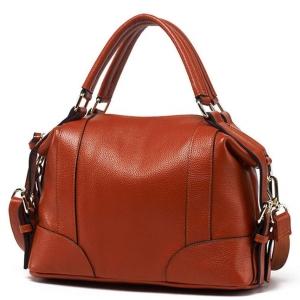 ***พร้อมส่ง*** กระเป๋าหนังแท้ สำหรับสุภาพสตรีทันสมัย รหัส MG-D6610 (M14-001) สีน้ำตาล สไตล์เกาหลี ราคาไม่แพง