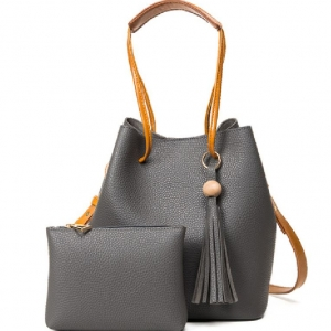 (พรีออเดอร์) กระเป๋าแฟชั่นสตรี รหัส MIS-3708 (M9-172) สีเทาเข้ม สไตล์เกาหลี สำหรับ สุภาพสตรีทันสมัย ราคาไม่แพง