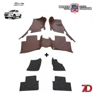 พรมรถยนต์ 7 D Anti Dust รถ TOYOTA HILUX REVO CAB ปี 2015-2019