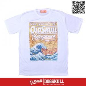 เสื้อยืด OLDSKULL : EXPRESS FIRE SEA | WHITE XL