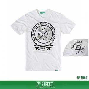 เสื้อยืด 7TH STREET - รุ่น Biker vintage | White