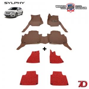 พรมรถยนต์ 7 D Anti Dust รถ NISSAN SYLPHY , PULSA ปี 2012-2018 จำนวน 3+4 ชิ้น