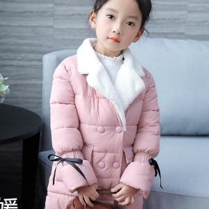 C119-45 เสื้อกันหนาวเด็ก สีชมพู บุนวมหนา ซับในทั้งตัว สวย นุ่มมาก อุ่นสบายๆ size 140-160
