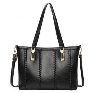 ***พร้อมส่ง*** กระเป๋าหนังแฟชั่นสตรี รหัส MIS-7795 (M9-217) สีดำ สไตล์เกาหลี สำหรับ สุภาพสตรีทันสมัย ราคาไม่แพง