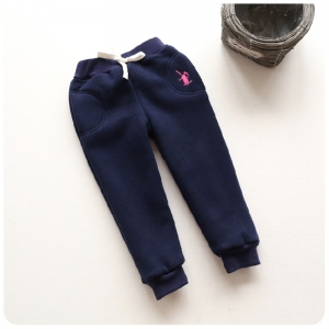 C99-83 กางเกงกันหนาวเด็ก size 140 สีน้ำเงินเข้ม บุขนสำลีอย่างหนา สวย อุ่นสบาย