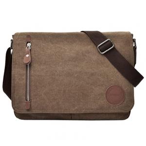 ***พร้อมส่ง*** กระเป๋าผ้าแคนวาส สำหรับสุภาพบุรุษ รหัส MH-7016 (M12-008) สีน้ำตาลเข้ม สไตล์เกาหลี ราคาไม่แพง