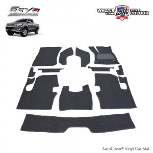 พรมดักฝุ่นไวนิล รถ Toyota Revo Cab ปี 2015-2019 เกียร์ Auto ชุด Full จำนวน 12 ชิ้น