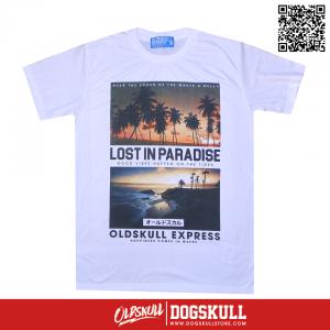 เสื้อยืด OLDSKULL : EXPRESS LOST IN PARADISE| WHITE