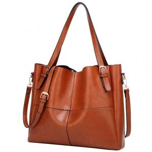 ***พร้อมส่ง*** กระเป๋าหนังแฟชั่นสตรี รหัส BT-734 (B3-013) สีน้ำตาล สไตล์เกาหลี สำหรับ สุภาพสตรีทันสมัย ราคาไม่แพง